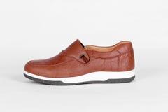 Chaussures en cuir de Brown Image stock