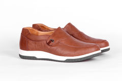 Chaussures en cuir de Brown Photos stock