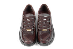 Chaussures en cuir de Brown Photo libre de droits