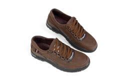 Chaussures en cuir de Brown Photographie stock libre de droits