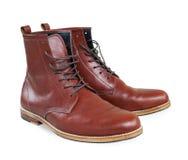 Chaussures en cuir de Brown image libre de droits