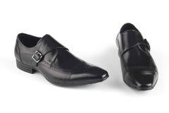Chaussures en cuir de couleur noire Photographie stock libre de droits