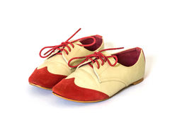Chaussures en cuir de femmes féminines Photo libre de droits