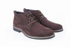 Chaussures en cuir de loisirs d'hommes Images stock