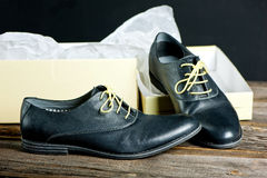 Chaussures en cuir italiennes Photographie stock