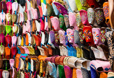 Chaussures en cuir marocaines Photos stock