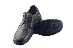 Chaussures en cuir noires Images stock