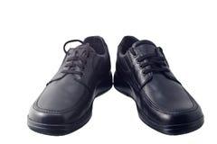 Chaussures en cuir noires Photos stock