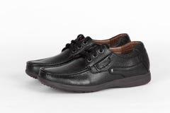 Chaussures en cuir noires Images libres de droits