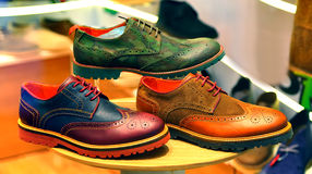 Chaussures en cuir pour les hommes Image libre de droits
