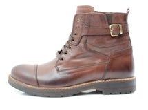 Chaussures en cuir sur le fond blanc Photo stock