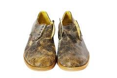 Chaussures en cuir sur un fond blanc photo libre de droits