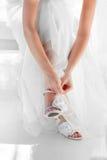 Chaussures en fonction Photographie stock libre de droits