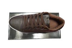 Chaussures et boîte Photographie stock libre de droits
