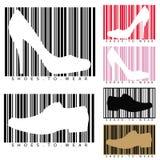 Chaussures et codes barres Image libre de droits