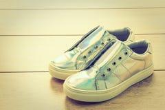 Chaussures et espadrille de mode Photos stock