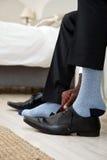 Chaussures et homme d'affaires de chaussettes images libres de droits