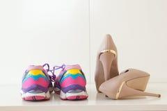 Chaussures et pompes de sports Photo libre de droits