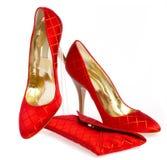 Chaussures et sac à main femelles photos libres de droits