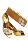 Chaussures et sac à main femelles images libres de droits