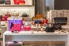 Chaussures et sacs de mode Photographie stock libre de droits