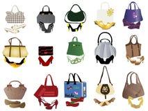 Chaussures et sacs pour des femmes Photographie stock libre de droits