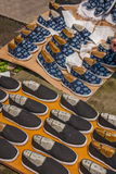Chaussures faites main de porte est de Zhejiang Jiaxing Wuzhen vieilles photographie stock