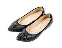Chaussures femelles d'isolement sur le blanc photos stock