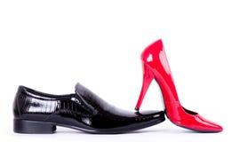 chaussures femelles et chaussures de l'homme Photos libres de droits