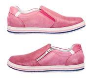 Chaussures folâtres de fille - espadrilles, d'isolement Photos libres de droits