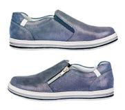 Chaussures folâtres de fille - espadrilles, d'isolement Photo stock