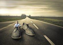 Chaussures géantes Images libres de droits