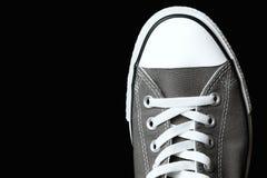 Chaussures grises de la jeunesse d'espadrilles Photos libres de droits