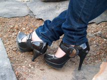 Chaussures High-heeled Photo stock