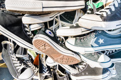 Chaussures inverses d'All Star Photographie stock libre de droits
