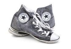 Chaussures inverses d'isolement sur le blanc Photos libres de droits