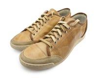 Chaussures jaunes Image stock
