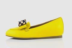 Chaussures jaunes Images libres de droits