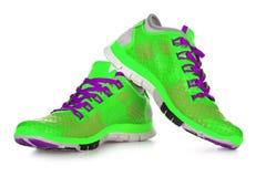 Chaussures jaunes de sport Image stock