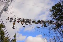 Chaussures jetées Image libre de droits