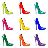 Chaussures lumineuses. Photos libres de droits