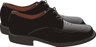 chaussures masculines Image stock