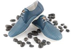Chaussures masculines bleues Image libre de droits