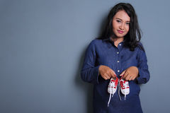 Chaussures mignonnes pour son bébé Photos libres de droits