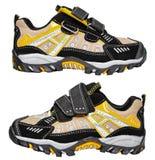 Chaussures modernes de sport sur le blanc - espadrilles Image stock