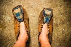 Chaussures modifiées Photo stock