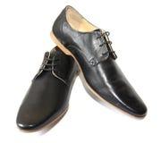 Chaussures noires Photographie stock libre de droits