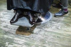 Chaussures noires de marié Photographie stock