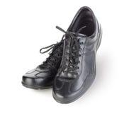 Chaussures noires de mens Images libres de droits