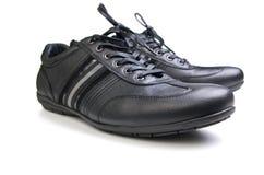 Chaussures noires de sport Image stock